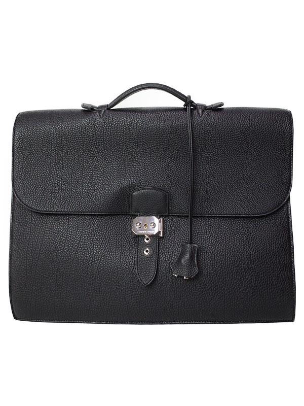 【HERMES】【シルバー金具】エルメス『サック ア デペッシュ 38』Q刻印 2013年製 メンズ ビジネスバッグ 1週間保証【中古】
