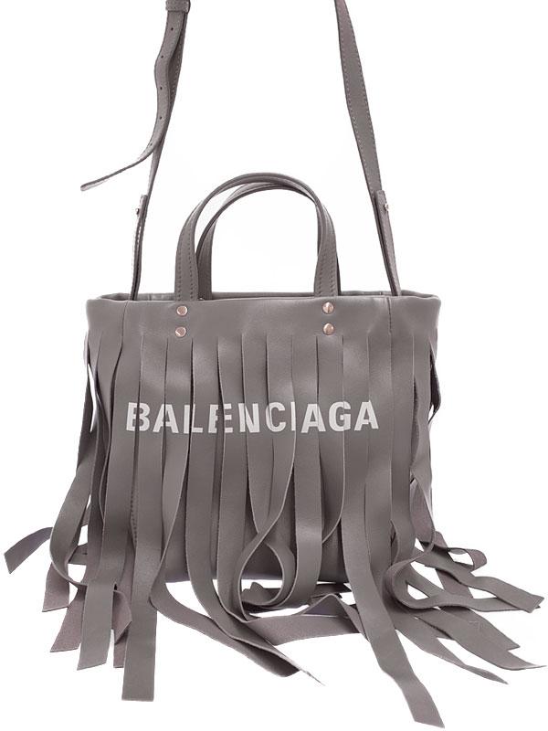 【BALENCIAGA】【フリンジ】バレンシアガ『ランドリー カバXS』517842 レディース 2WAYバッグ 1週間保証【中古】
