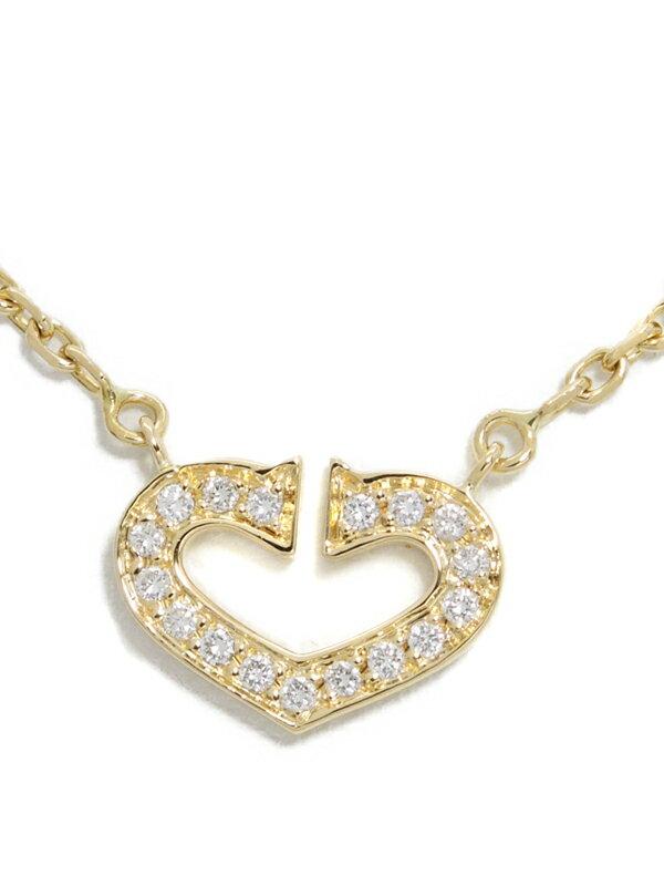 【Cartier】【メーカー仕上済】カルティエ『K18YG Cハート オブ カルティエ ダイヤモンド ネックレス』1週間保証【中古】