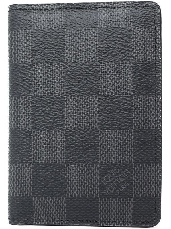 【LOUIS VUITTON】ルイヴィトン『ダミエ グラフィット オーガナイザー ドゥ ポッシュ』N63143 メンズ カードケース 1週間保証【中古】