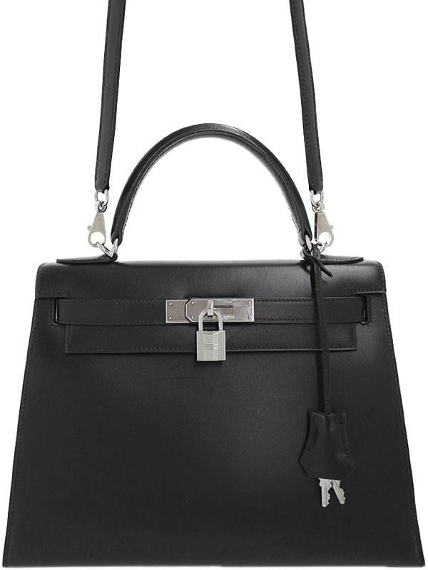 【HERMES】【シルバー金具】エルメス『ケリー28 外縫い』H刻印 2004年製 レディース 2WAYバッグ 1週間保証【中古】