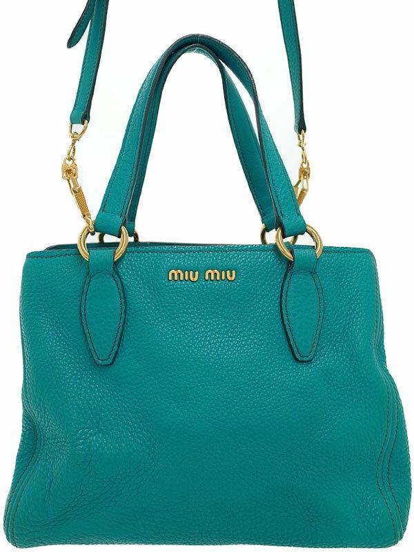 【MIU MIU】ミュウミュウ『2WAYハンドバッグ』RN0757 レディース 2WAYバッグ 1週間保証【中古】