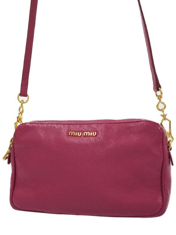 【MIU MIU】ミュウミュウ『ショルダーバッグ』RT0539 レディース 1週間保証【中古】