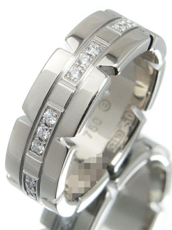 【Cartier】【仕上済】カルティエ『K18WG タンクフランセーズ リング ダイヤ SM』10号 1週間保証【中古】