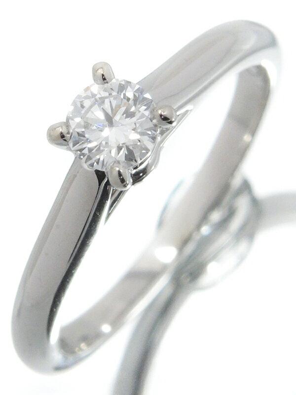 【Cartier】【MKコーフィル】【仕上済】カルティエ『PT950 1895 ソリテール リング 1Pダイヤモンド0.18ct』6号 1週間保証【中古】