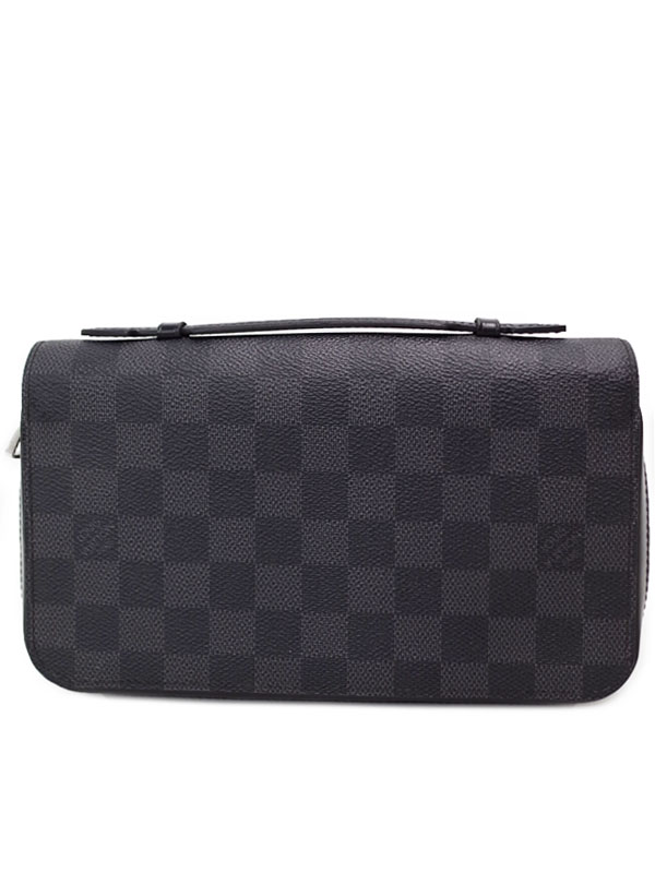 【LOUIS VUITTON】ルイヴィトン『ダミエ グラフィット ジッピーXL』N41503 メンズ ラウンドファスナー長財布 1週間保証【中古】