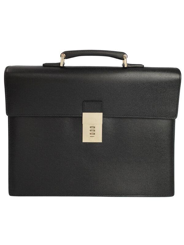 【GUCCI】グッチ『レザー ブリーフケース』34044 メンズ ビジネスバッグ 1週間保証【中古】