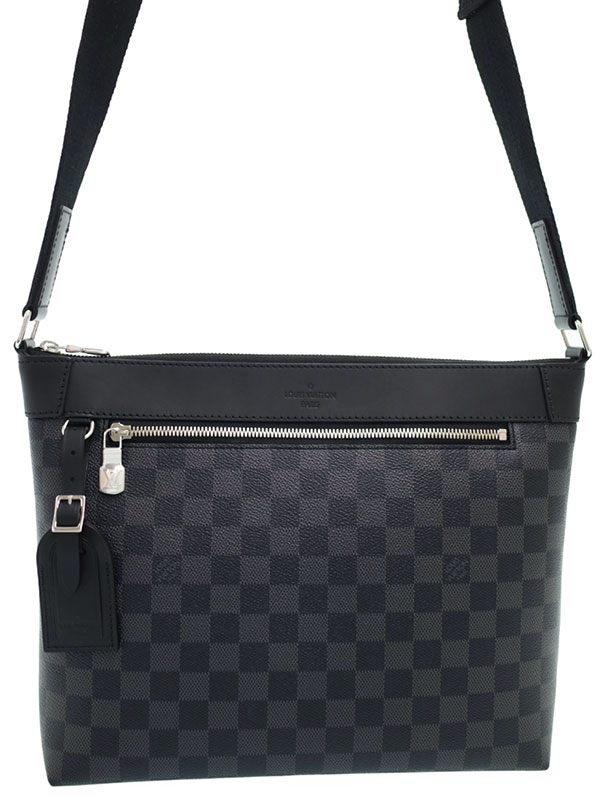 【LOUIS VUITTON】ルイヴィトン『ダミエ グラフィット ミックPM NM』N40003 メンズ ショルダーバッグ 1週間保証【中古】