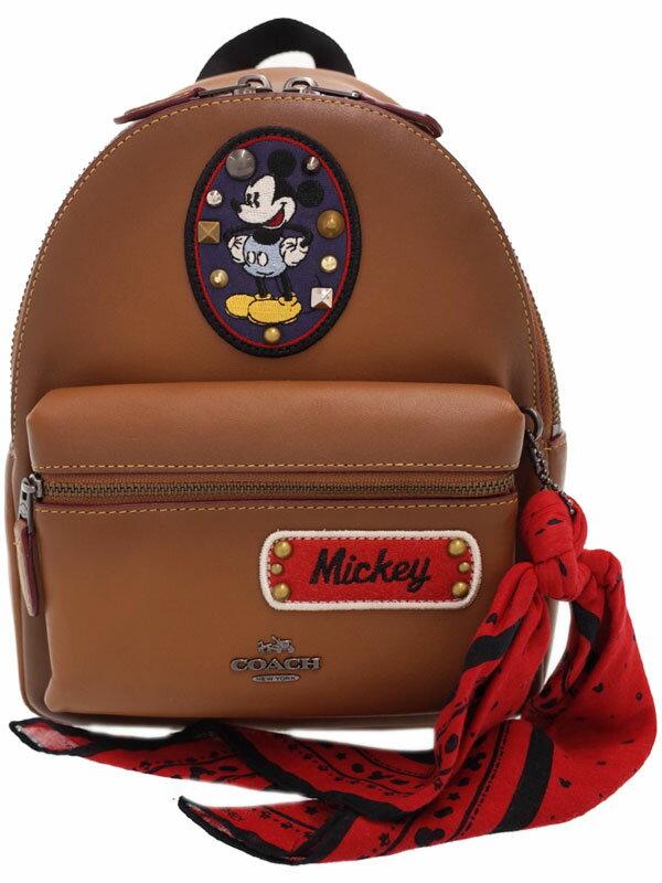 【COACH】【ディズニーコラボ】コーチ『ミッキー パッチーズ ディズニー バックパック サドル マルチ』F59356 レディース 1週間保証【中古】