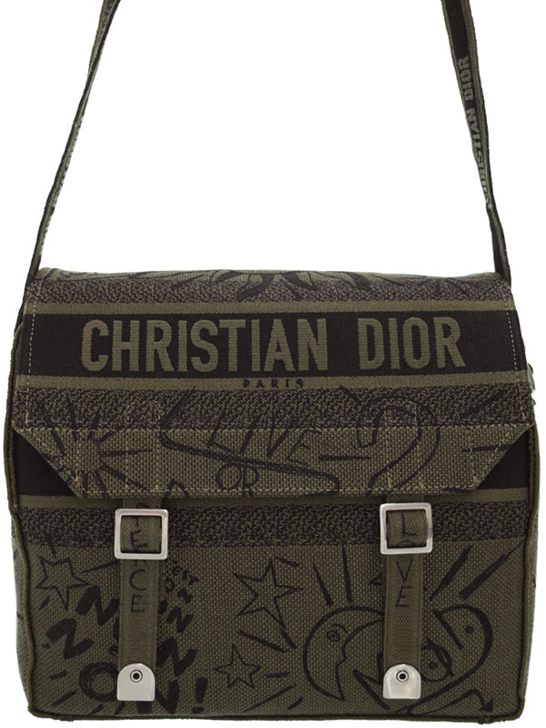 【Christian Dior】クリスチャンディオール『ディオール キャンプ メッセンジャーバッグ』M1291VRRI メンズ ショルダーバッグ 1週間保証【中古】