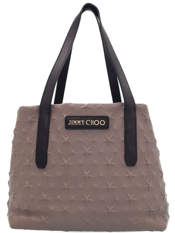 【Jimmy Choo】ジミーチュウ『SARA/S スターエンボス トートバッグ』レディース 1週間保証【中古】