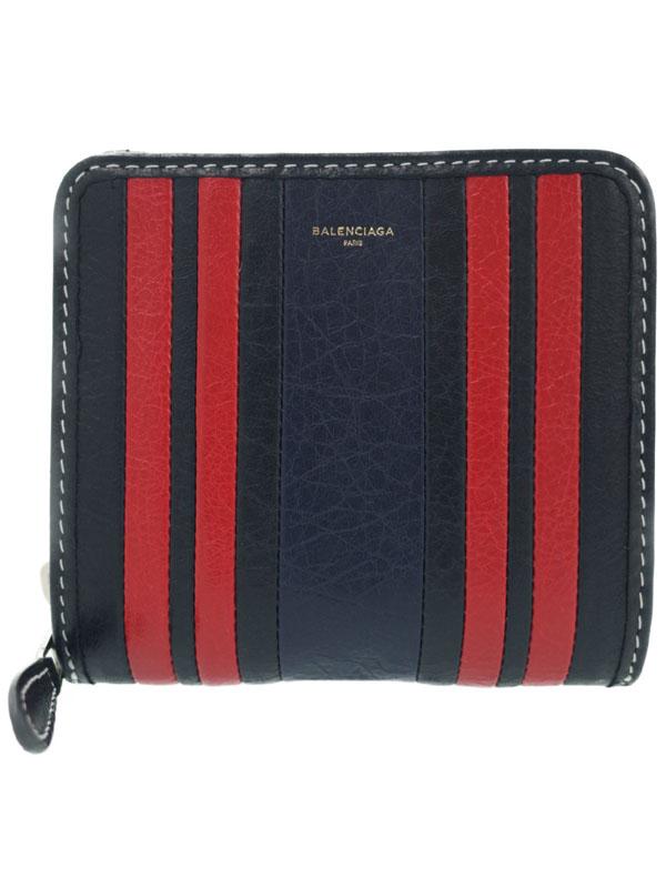 【BALENCIAGA】バレンシアガ『バザール 二つ折り短財布』443657 ユニセックス 1週間保証【中古】