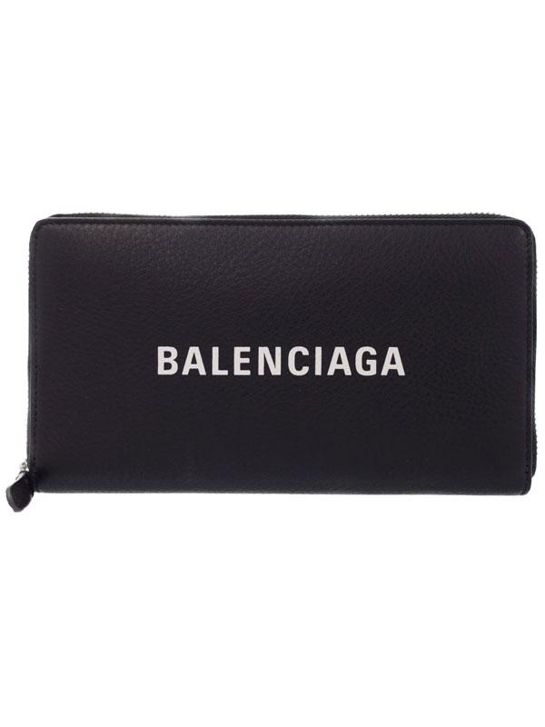 【BALENCIAGA】バレンシアガ『エブリデイ ラウンドファスナー長財布』ユニセックス 1週間保証【中古】