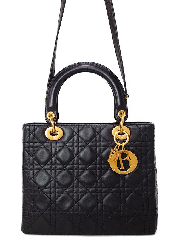 【Christian Dior】クリスチャンディオール『レディディオール(M)』レディース 2WAYバッグ 1週間保証【中古】