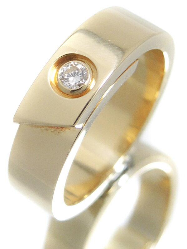 【Cartier】【仕上済】カルティエ『K18YG アニバーサリー リング 1Pダイヤモンド』13号 1週間保証【中古】
