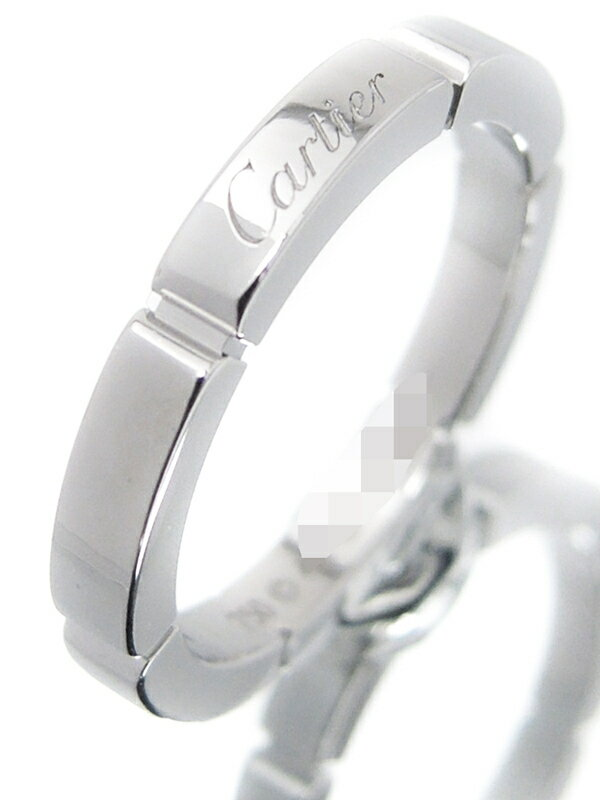 【Cartier】カルティエ『K18WG マイヨンパンテール ウェディング リング』8号 1週間保証【中古】
