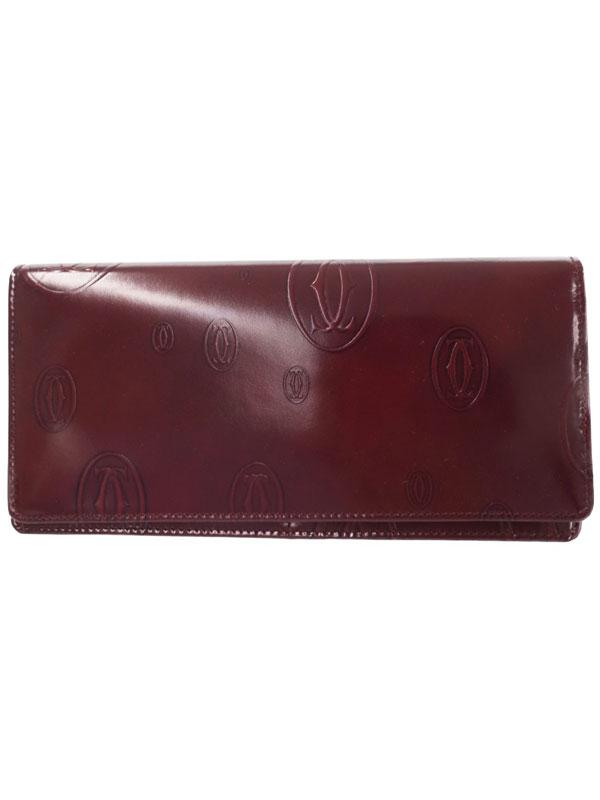 【Cartier】カルティエ『ハッピーバースデイ 二つ折り長財布』L3000445 レディース 1週間保証【中古】