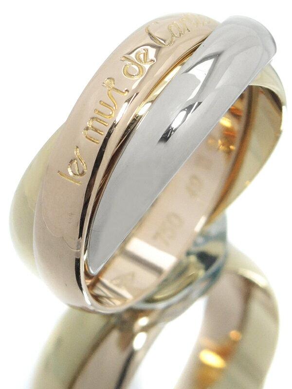 【Cartier】【スリーカラーゴールド】カルティエ『K18YG/K18PG/K18WG トリニティ リング』9号 1週間保証【中古】