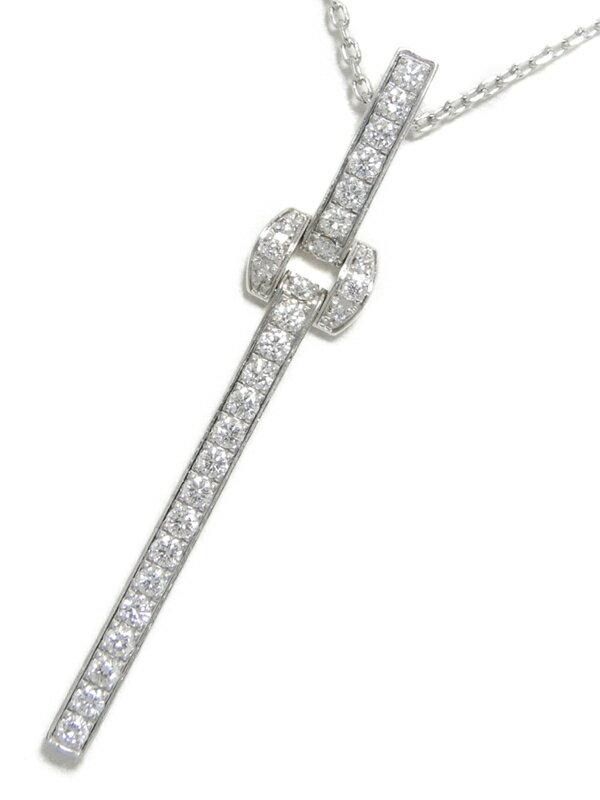 【PIAGET】【仕上済】ピアジェ『K18WG ミスプロトコール ペンダント ネックレス ダイヤモンド』1週間保証【中古】