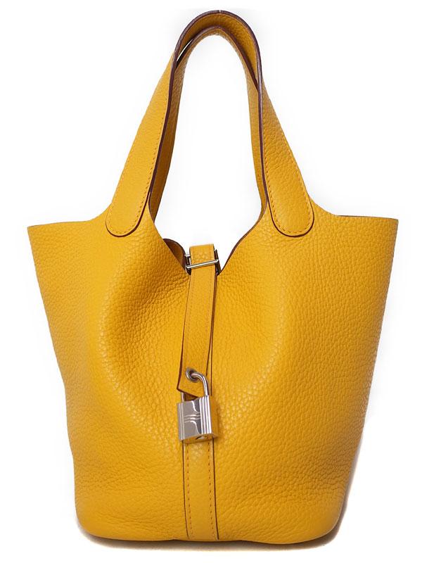 【HERMES】【シルバー金具】エルメス『ピコタンロックPM』M刻印 2009年製 レディース ハンドバッグ 1週間保証【中古】