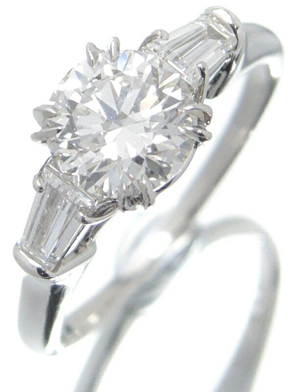 【HARRY WINSTON】【ラウンド・クラシック】【鑑定書】ハリーウィンストン『PT950リング ダイヤモンド1.05ct/E/VS-1/VERY GOOD』13号相当 1週間保証【中古】
