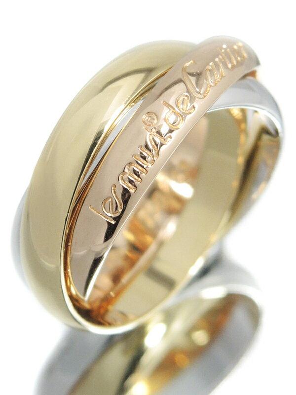 【Cartier】【スリーカラーゴールド】【仕上済】カルティエ『K18YG/K18PG/K18WG トリニティ リング』12号 1週間保証【中古】