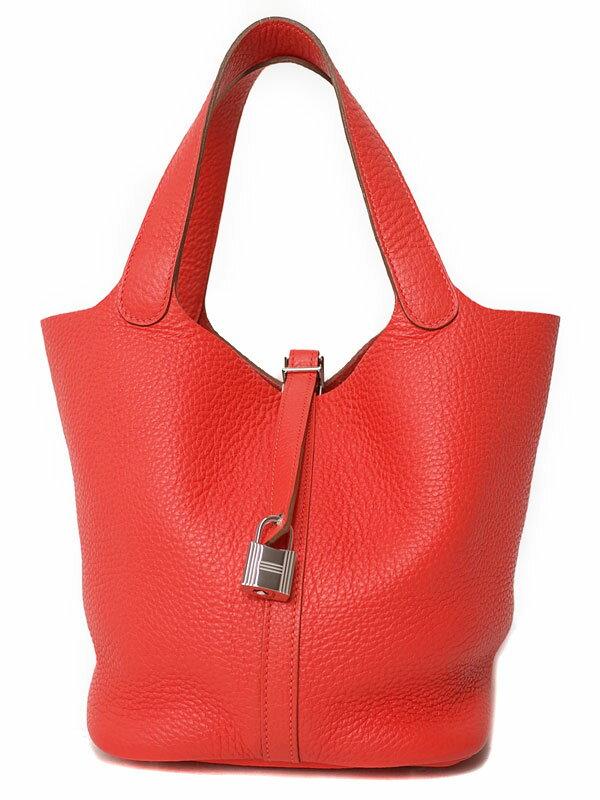 【HERMES】【シルバー金具】エルメス『ピコタンロックMM』P刻印 2012年製 レディース ハンドバッグ 1週間保証【中古】