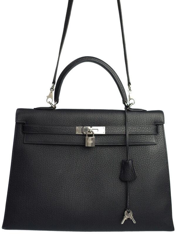 【HERMES】【シルバー金具】エルメス『ケリー35 外縫い』E刻印 2001年製 レディース 2WAYバッグ 1週間保証【中古】