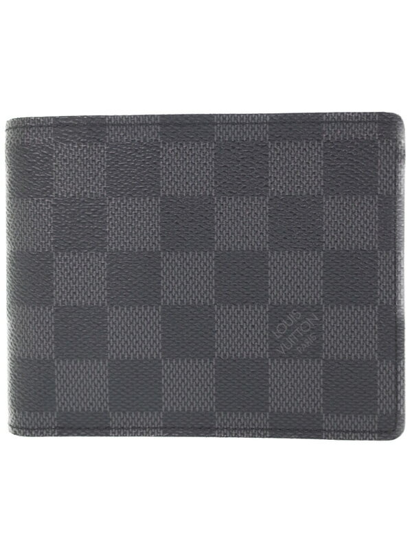 【LOUIS VUITTON】ルイヴィトン『ダミエ グラフィット ポルトフォイユ フロリン』N63074 メンズ 二つ折り短財布 1週間保証【中古】