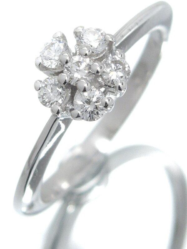 【DAMIANI】【訳有特価】ダミアーニ『K18WGリング ダイヤモンド フラワーモチーフ』4.5号 1週間保証【中古】