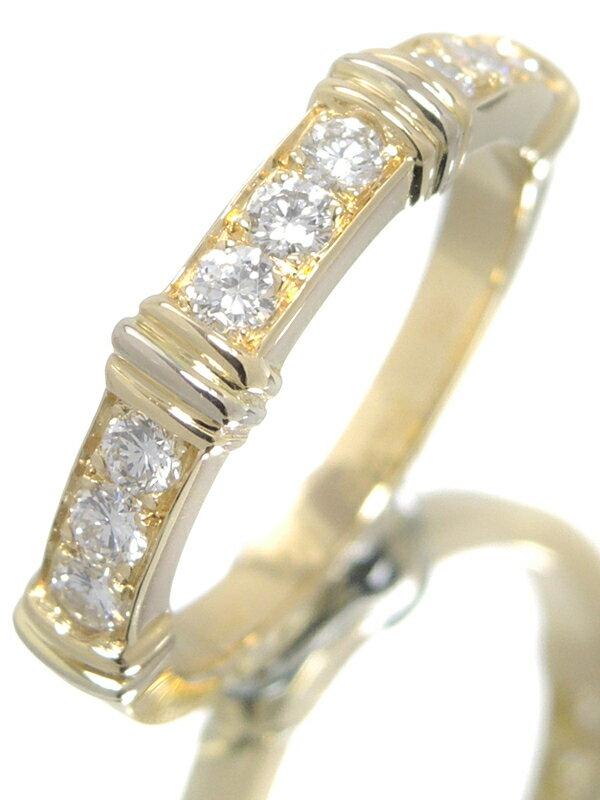 【Cartier】【仕上済】カルティエ『K18YG コンテッサ リング ハーフダイヤモンド』10号 1週間保証【中古】