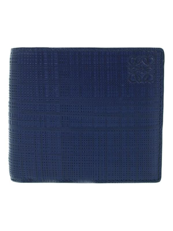 【LOEWE】ロエベ『バイフォルド コインウォレット』101.88.501 メンズ 二つ折り短財布 1週間保証【中古】