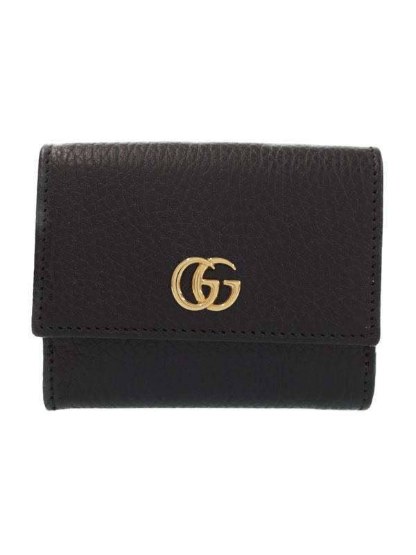【GUCCI】グッチ『GGマーモント Wホック短財布』524672 レディース 1週間保証【中古】