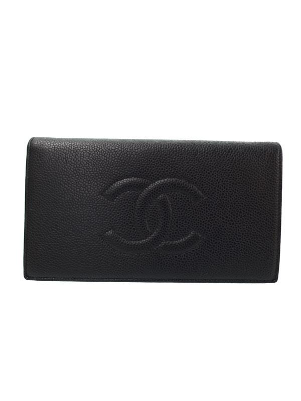 【CHANEL】シャネル『ココマーク 二つ折り長財布』A48651 レディース 1週間保証【中古】