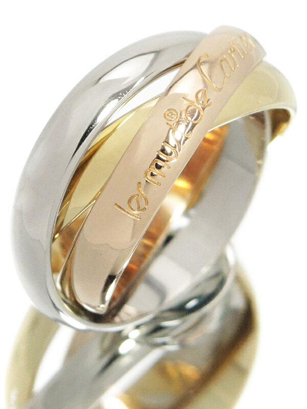 【Cartier】【スリーカラーゴールド】カルティエ『K18YG/K18PG/K18WG トリニティ リング』10号 1週間保証【中古】