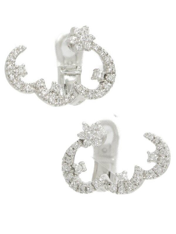 【Ponte Vecchio】ポンテヴェキオ『K18WGピアス ダイヤモンド0.60ct フラワーモチーフ』1週間保証【中古】
