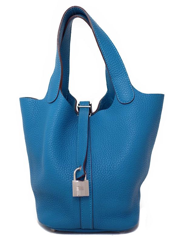 【HERMES】【シルバー金具】エルメス『ピコタンロックPM』O刻印 2011年製 レディース ハンドバッグ 1週間保証【中古】