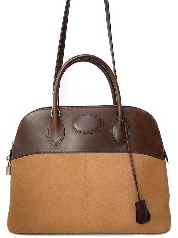 【HERMES】【シルバー金具】エルメス『ボリード35』K刻印 2007年製 レディース 2WAYバッグ 1週間保証【中古】