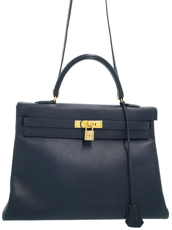 【HERMES】【ゴールド金具】エルメス『ケリー35 内縫い』Z刻印 1996年 レディース 2WAYバッグ 1週間保証【中古】