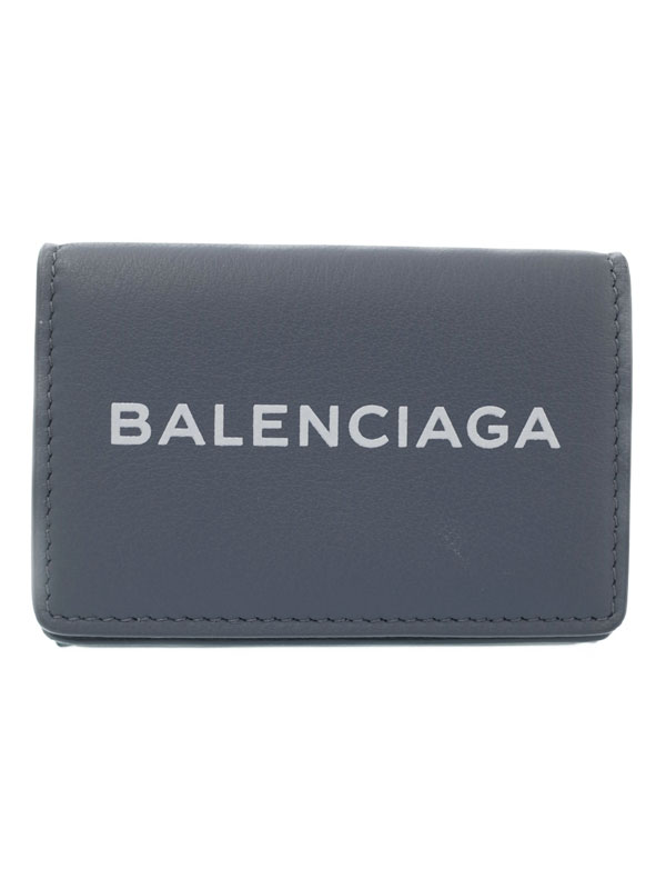 【BALENCIAGA】バレンシアガ『エブリデイ ミニ ウォレット』516402 メンズ レディース 三つ折り短財布 1週間保証【中古】