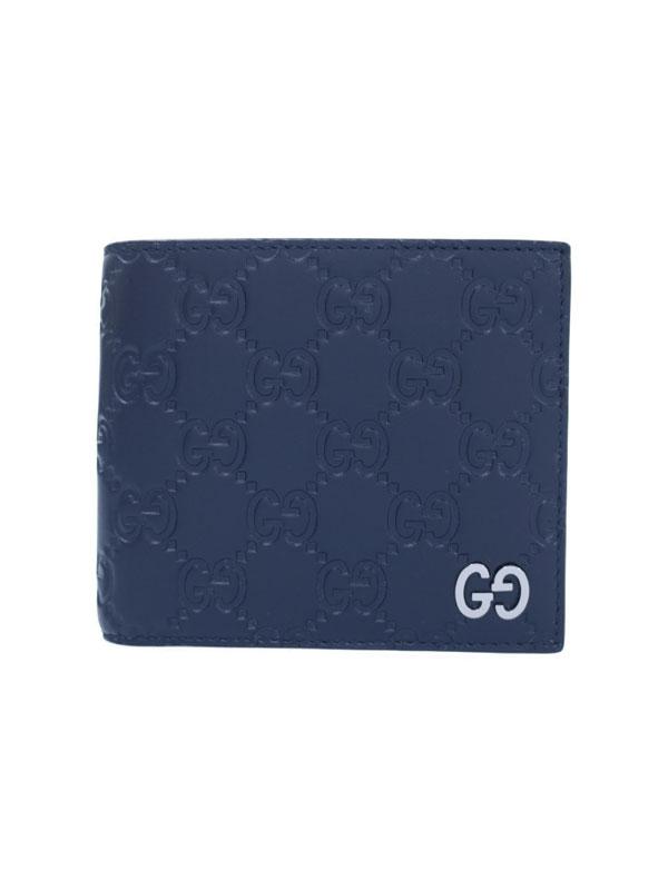 【GUCCI】グッチ『レザー コインウォレット』473922 メンズ 二つ折り短財布 1週間保証【中古】