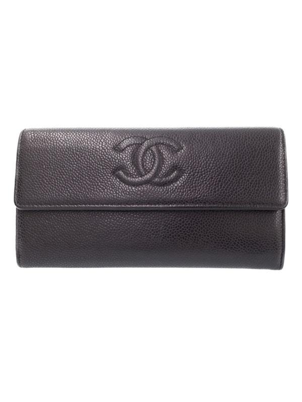 【CHANEL】シャネル『ココマーク 二つ折り長財布』A50070 レディース 1週間保証【中古】