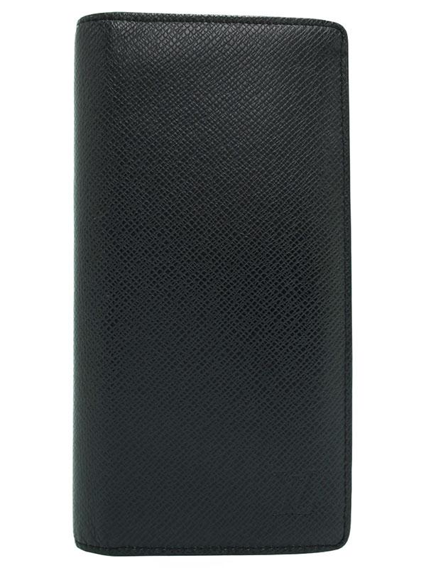 【LOUIS VUITTON】ルイヴィトン『タイガ ポルトフォイユ ブラザ』M32572 メンズ 二つ折り長財布 1週間保証【中古】