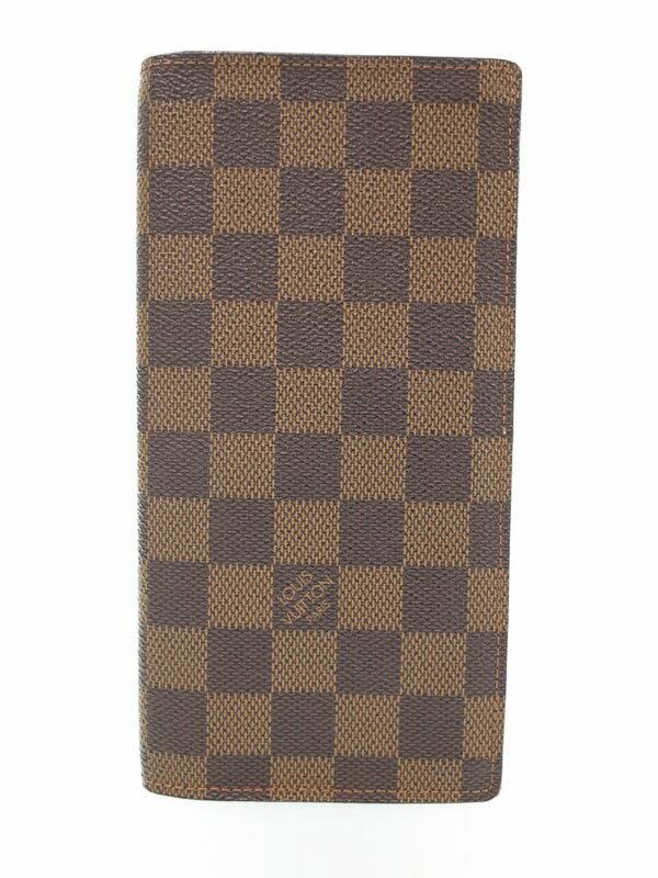 【LOUIS VUITTON】ルイヴィトン『ダミエ ポルトフォイユ ブラザ』N60017 メンズ 二つ折り長財布 1週間保証【中古】