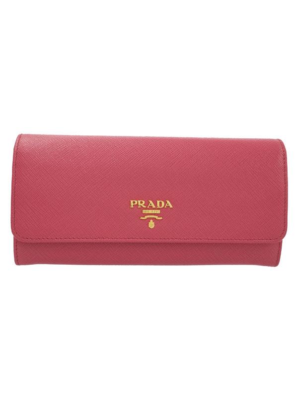 【PRADA】プラダ『二つ折り長財布』1MH132 レディース 1週間保証【中古】