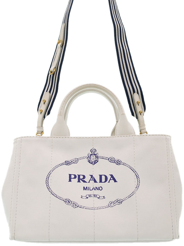 【PRADA】プラダ『カナパ ファブリック ハンドバッグ』1BG642 レディース 2WAYバッグ 1週間保証【中古】