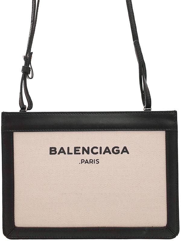 【BALENCIAGA】バレンシアガ『ネイビー ポシェット』390641 レディース ショルダーバッグ 1週間保証【中古】