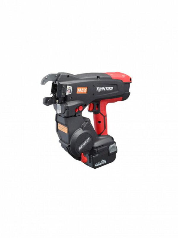 【MAX】マックス『リバータイア』RB-440T-B2CA/1440A 14.4V 4.0Ah×2個・充電器・ケース付 充電式鉄筋結束機 1週間保証【中古】