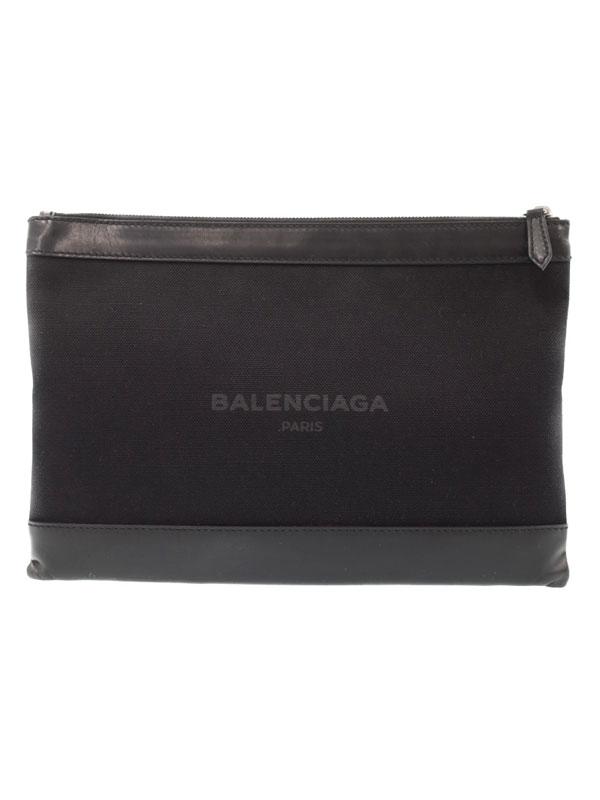 【BALENCIAGA】バレンシアガ『ネイビー クリップ M』373834 メンズ レディース クラッチバッグ 1週間保証【中古】