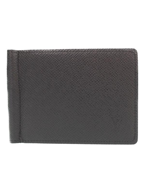【LOUIS VUITTON】【小銭入れ無し】【イニシャル入り】ルイヴィトン『タイガ ポルトフォイユ パンス』M62978 メンズ 二つ折り短財布 1週間保証【中古】